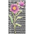 Purple Chipboard Flower