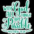 Bloom Scripture Word Art Matthew Verse Sticker
