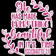 Bloom Scripture Word Art Sticker