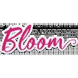 Bloom Pink Word Art Sticker