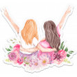 Discernment Kit Add On: Watercolor Girls Sticker w Flowers