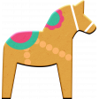 Scandinavian Element Chipboard Horse