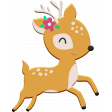 Scandinavian Element Chipboard Deer 1