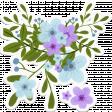Hello Spring: Blue & Purple Flower Bouquet