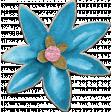 Hello Spring: Blue Chipboard Flower