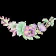 Choose Joy Watercolor Flower Bouquet Spray