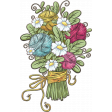 Knit Mini Kit: Chipboard Bouquet of Flowers and Yarn