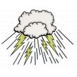 Super Hero Cloud Dropping Rays