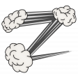 Superhero Zig Zag Clouds