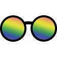 Retro 60s Groovy Sunglasses