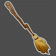 Broomstick sticker