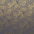 Navy and Gold Floral paper