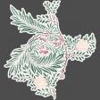 Flower sticker vintage