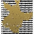 Gold flower overlay or sticker