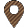 Location marker - Wood Striped