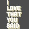 Word Art - I Love