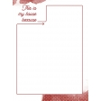 House Honors Journal Card - house red