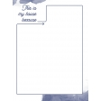 House Honors Journal Card - house blue