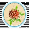 floral chic button