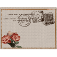 floral chic stamp