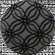 black & gray fabric button