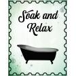 8.5 x 11 bath sign