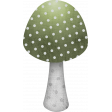 Green Mushroom with dots