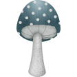 Blue Mushroom with Dots