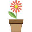 Chipboard Flower Pot 01