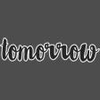 Tomorrow - word art