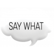 Speech Bubble - say what