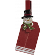 Christmas clothespin with tag (1)