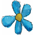 Don't Eat The Daisies (blue flower) 01