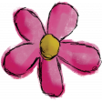 Don't Eat The Daisies (pink flower) 06