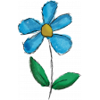 Don't Eat The Daisies (blue flower) 08