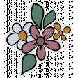 Vintage Memories (flower sticker 02)