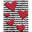 Fallish Rubber Elements - hearts