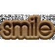Snow Beautiful (Wood) - Wordart smile