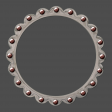Round Jewelled Frame