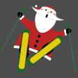 Skiing Santa