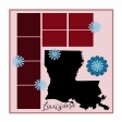 Layout Template: USA Map – Louisiana