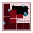 Layout Template: USA Map – Pennsylvania