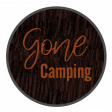 Gone Camping Word Art