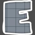 Alphabet Layout Template Letter E