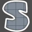 Alphabet Layout Template Letter S