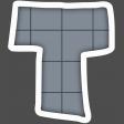 Alphabet Layout Template Letter T