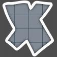Alphabet Layout Template Letter X