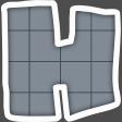 Alphabet Layout Template Letter H