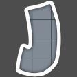 Alphabet Layout Template Letter J