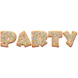 Party Cookies Word Art Colorful